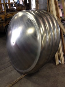"Custom ordered 1/2"" aluminum tank heads"
