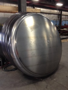 Custom ordered Aluminum Tank heads